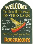 Lake Hideaway Personalized Sign #1655