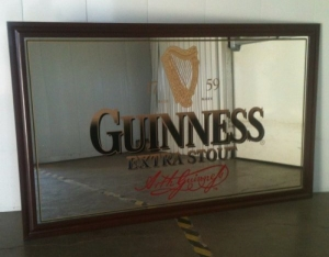 Guinness large bar mirror