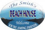 Beach House Personalized Sign #2272