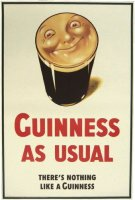 Smiling Pint Guinness Poster