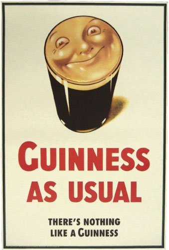 Smiling Pint Guinness Poster | The Pub Shoppe