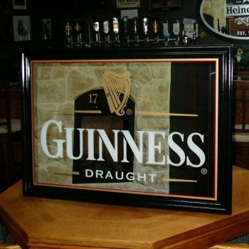 Guinness Medium Pub Mirror The Pub Shoppe