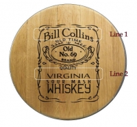American Whiskey Barrel Head Sign