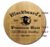 Blackbeards Barrel Head Sign