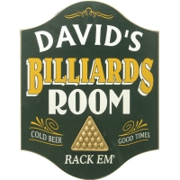 Billiards Room Personalized Sign #4262